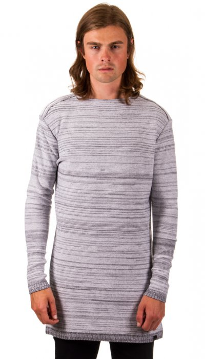 Knitted Sweater - White/Grey